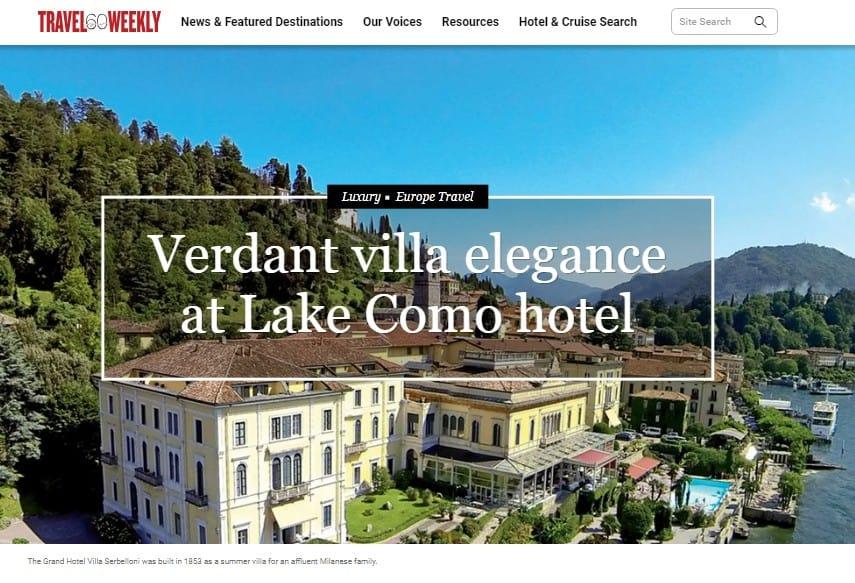 Verdant villa elegance at Lake Como hotel