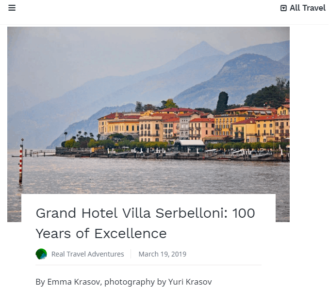 Enjoy Calm, Serenity and Old World Elegance at the Grand Hotel Villa Serbelloni