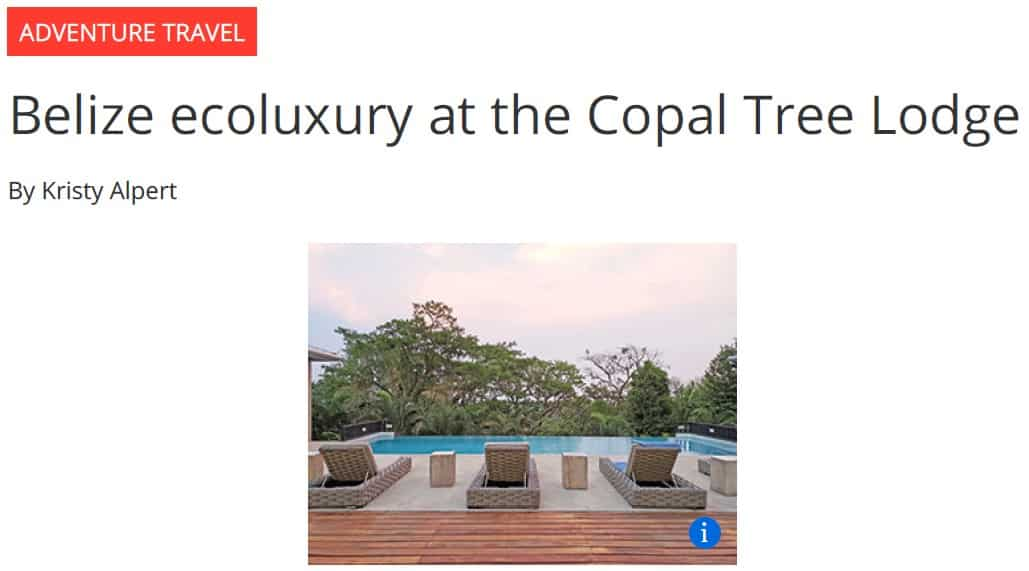 "Copal Tree Lodge brings new meaning to ""farm to table"""
